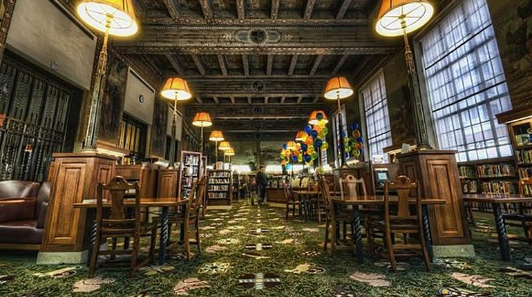 Публичная библиотека Лос-Анджелеса, статья, блог, лавка Бабуин