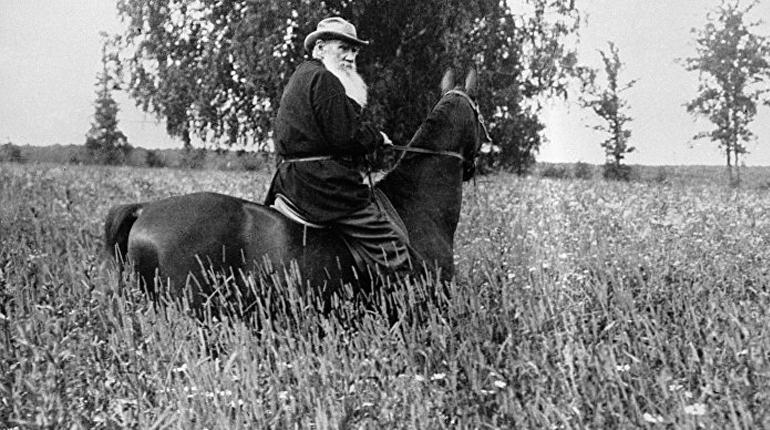 Лев Толстой на прогулке, Около книг