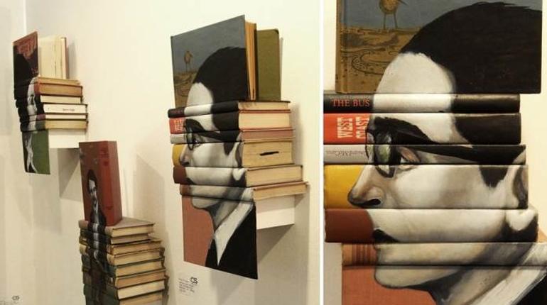 Статья, Книжные инсталляции, Около книг