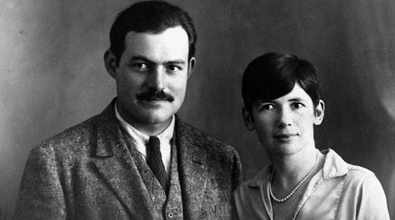 Фотография, Эрнест Хемингуей с женой