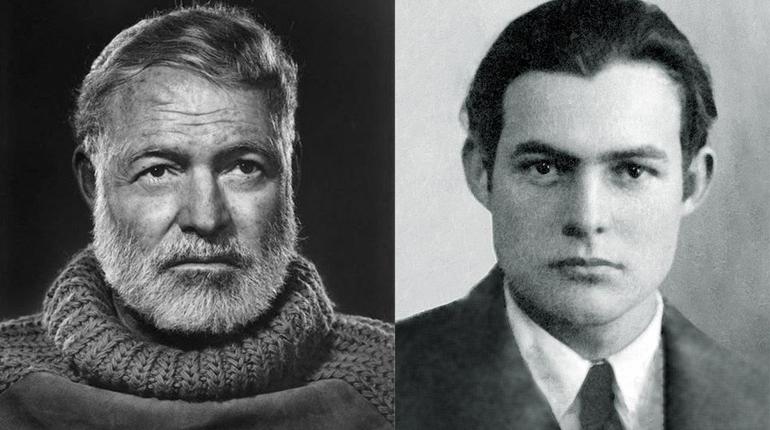 Фотографии, Эрнест Хемингуей в юности и зрелости, Персона