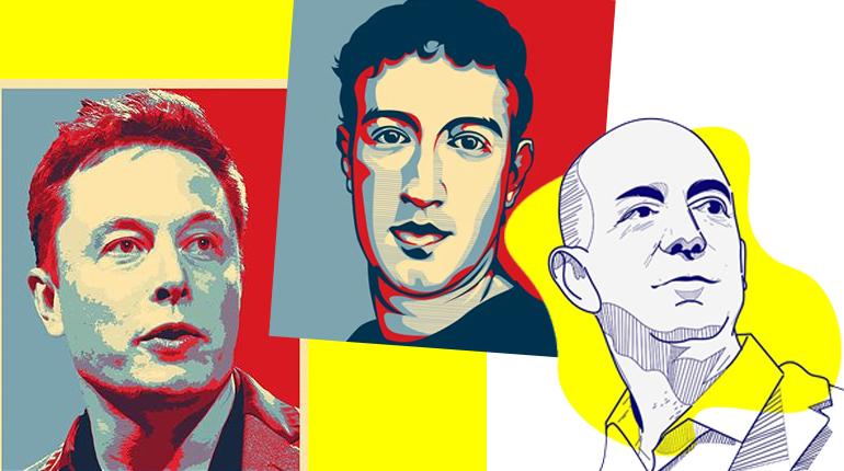 Статья, Какие книги читают Илон Маск, Джефф Безос и Марк Цукерберг,Вокруг книг
